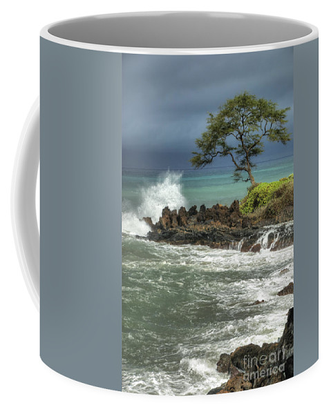 Waterscape Coffee Mug featuring the photograph Stormy Maui Morning by Sandra Bronstein