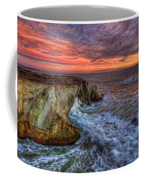 Shell Beach Coffee Mug featuring the photograph Stormy Seas by Beth Sargent