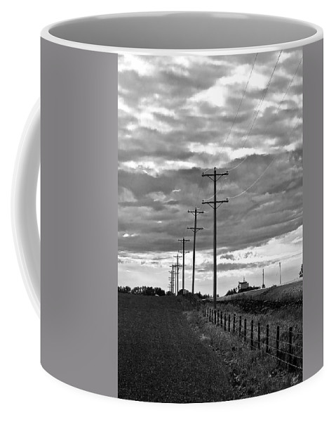 Storm Clouds Coffee Mug featuring the photograph Stormy Skies by Lisa Knechtel