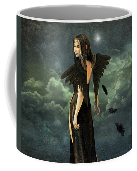 Angel Coffee Mug featuring the digital art Stormy Weather by Tori Beveridge