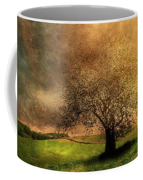 Blossom Coffee Mug featuring the painting Stormy Weather by Georgiana Romanovna