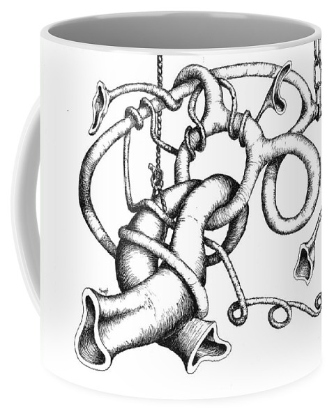 Worm Coffee Mug featuring the drawing Straight Ahead And To The Left by Sam Sidders