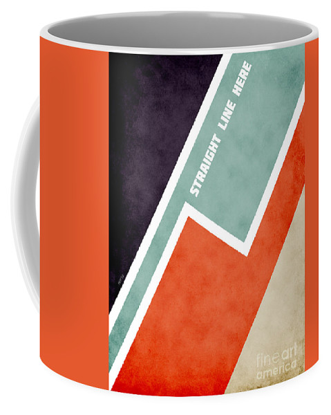 Graphic Design Coffee Mug featuring the digital art Straight Line Here by Phil Perkins