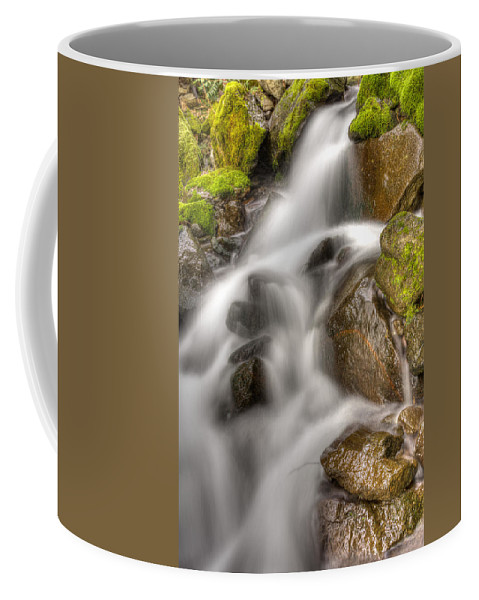 Mt Hood National Forest Coffee Mug featuring the photograph Stranger Falls #8 by John Trax