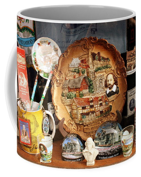 Stratford Upon Avon Coffee Mug featuring the photograph Stratford Souveniers by Terri Waters
