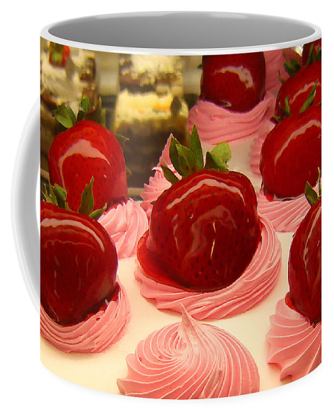 Food Coffee Mug featuring the painting Strawberry Mousse by Amy Vangsgard