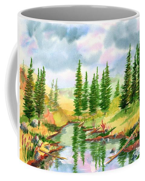 Strawberry Reservoir Coffee Mug featuring the painting Strawberry Reservoir 2 by Walt Brodis