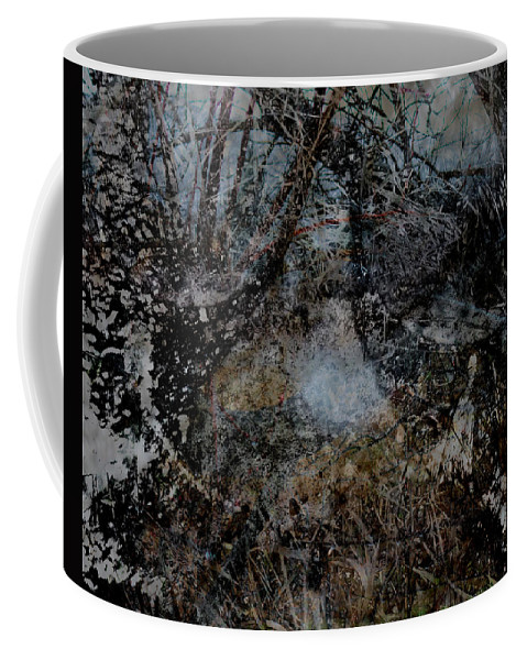 Abstract Coffee Mug featuring the digital art Stream by James Barnes