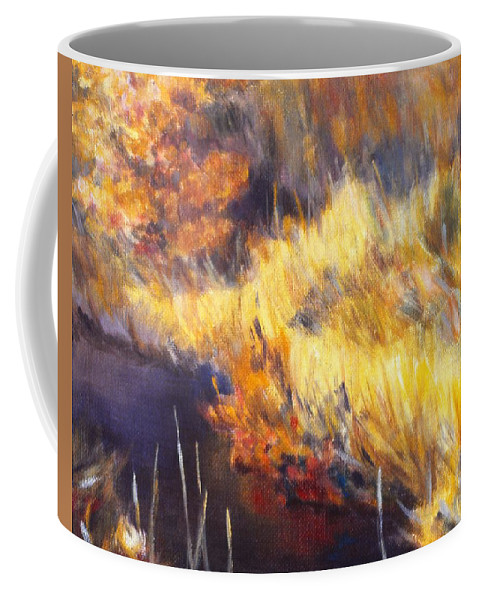 Stream Coffee Mug featuring the painting Stream by Kendall Kessler