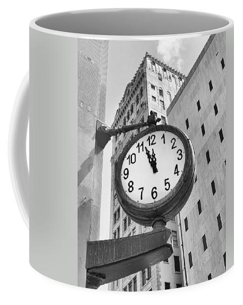 City Coffee Mug featuring the photograph Street Clock by Rudy Umans