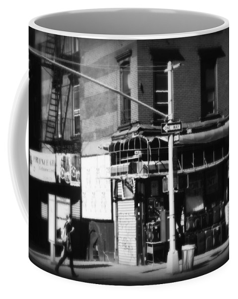 New York Coffee Mug featuring the photograph Street Corner - Horizontal by Miriam Danar