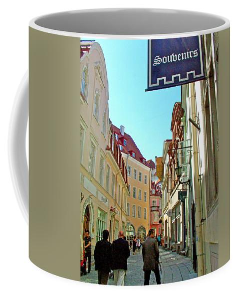 Street In Old Town Tallinn Coffee Mug featuring the photograph Street In Old Town Tallinn-estonia by Ruth Hager