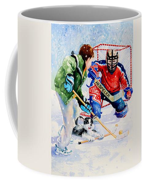 Kids Hockey Coffee Mug featuring the painting Street Legal by Hanne Lore Koehler