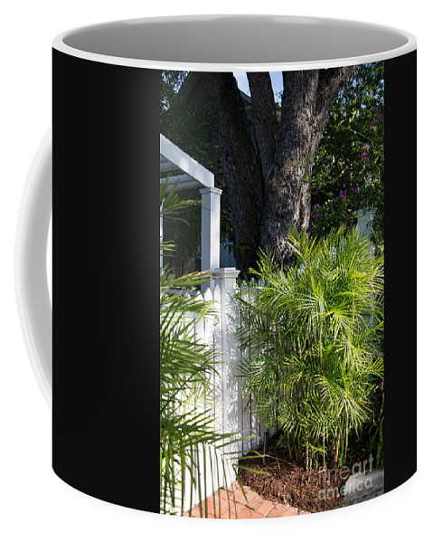 Florida Coffee Mug featuring the digital art Street Scenes In Key West by Carol Ailles