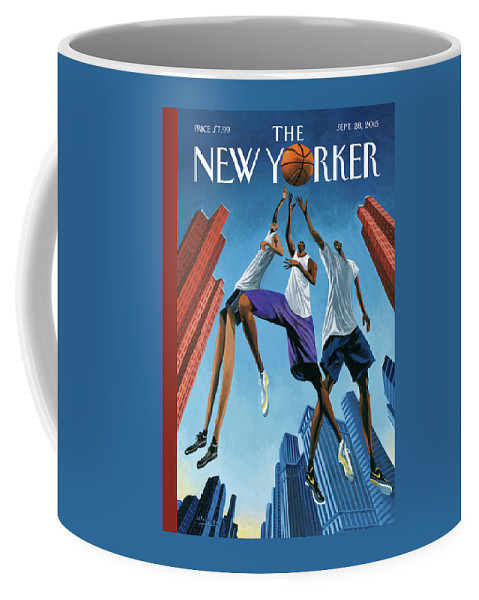Basketball Coffee Mug featuring the painting Streetball by Mark Ulriksen