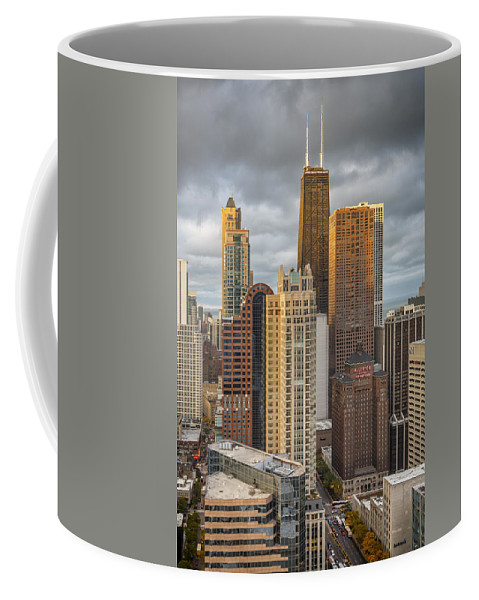 3scape Coffee Mug featuring the photograph Streeterville From Above by Adam Romanowicz