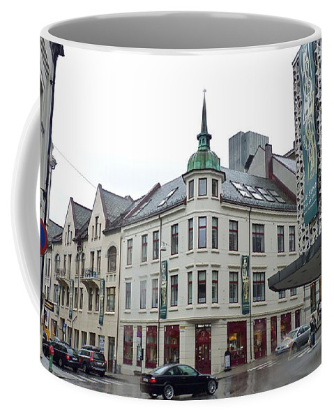 Coffee Mug featuring the photograph Streets Of Aalesund by Katerina Naumenko
