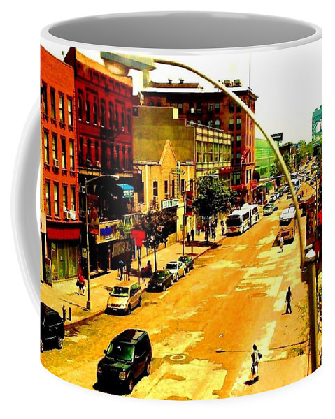 New York Coffee Mug featuring the photograph Streets Of Gold by Miriam Danar