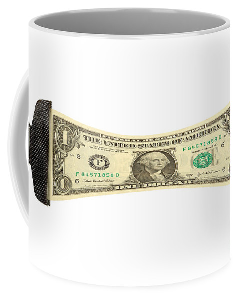 Dollar Coffee Mug featuring the photograph Stretching The Dollar by Olivier Le Queinec