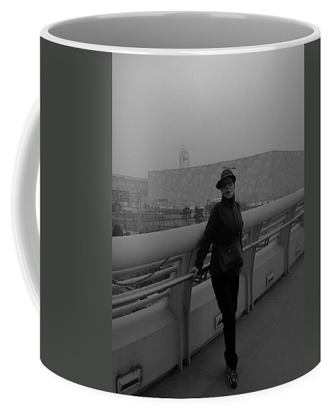 Shanghai Coffee Mug featuring the photograph Strike A Pose by Cathy Anderson