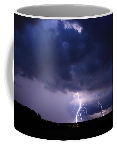 Lightning Coffee Mug featuring the photograph Striking Del Webb by Reid Callaway