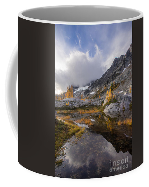 Stuart Coffee Mug featuring the photograph Stuart Range Soaring Fall Skies by Mike Reid