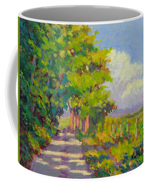 Landscape Coffee Mug featuring the painting Study For Afternoon Shadows by Keith Burgess
