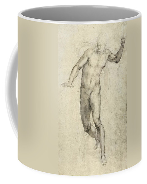 Sketch Coffee Mug featuring the painting Study For The Last Judgement by Michelangelo Buonarroti