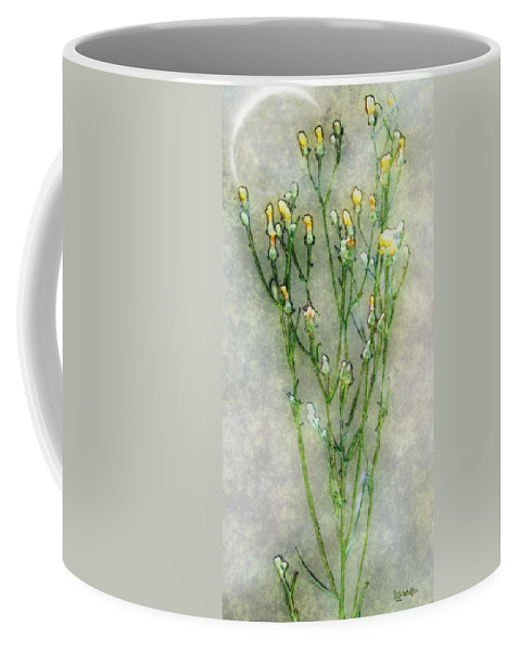 Wildflowers Coffee Mug featuring the painting Nature Study In Moonlight by RC deWinter