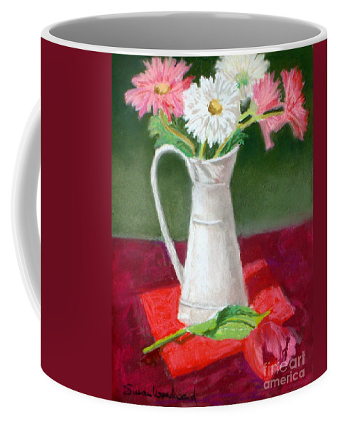 Still Life In Pastel Coffee Mug featuring the pastel Study In Red by Susan Woodward