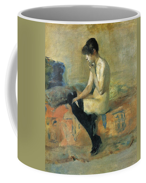 1882 Coffee Mug featuring the painting Study Of A Nude by Toulouse-Lautrec