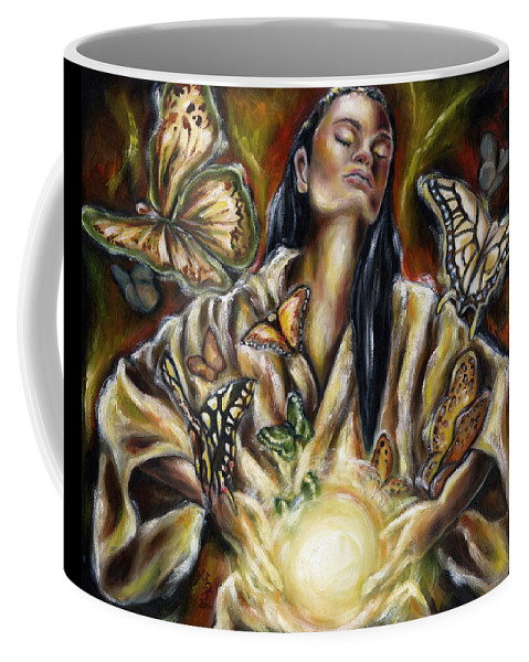 Asian Woman Coffee Mug featuring the painting Sublimation by Hiroko Sakai