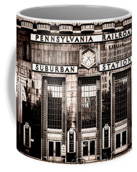 Philadelphia Coffee Mug featuring the photograph Suburban Station by Olivier Le Queinec