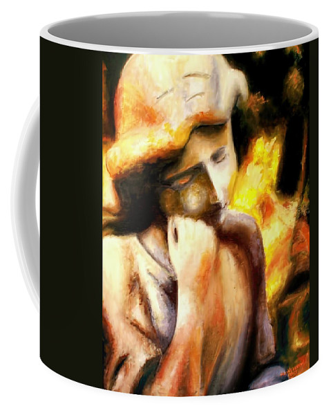 Angel Coffee Mug featuring the painting Such Peace by Melissa Herrin