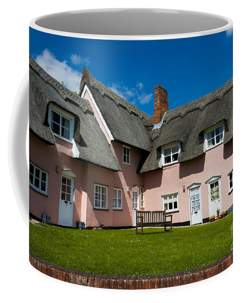 Architecture Coffee Mug featuring the photograph Suffolk Pink by Svetlana Sewell