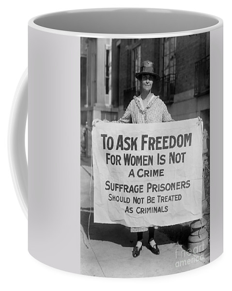 1917 Coffee Mug featuring the photograph Suffragist 1917 by Granger