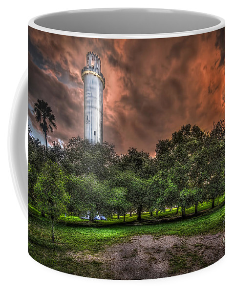Sulfur Springs Water Tower Coffee Mug featuring the photograph Sulfur Springs Tower by Marvin Spates