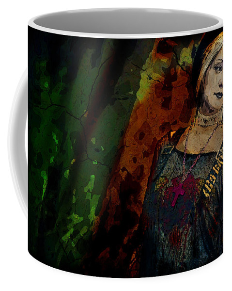 Goth Coffee Mug featuring the digital art Sum Angle Gothic Portrait by Galen Valle