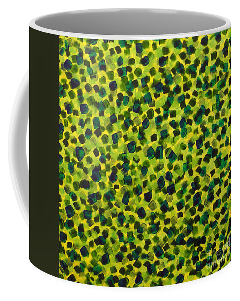 Abstract Coffee Mug featuring the painting Sunlight Through The Trees 2 by Dean Triolo
