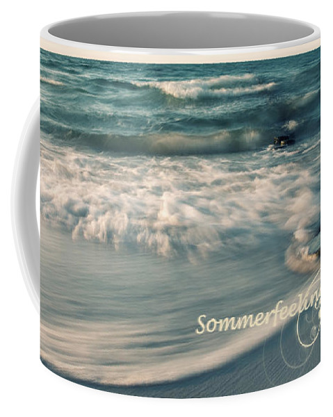 Ostsee Coffee Mug featuring the pyrography Summer Beach by Steffen Gierok