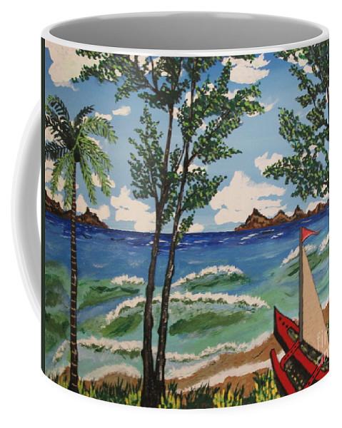 Summer Coffee Mug featuring the painting Summer Breeze by Jeffrey Koss