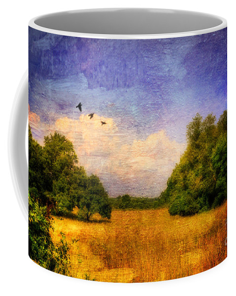 Landscape Coffee Mug featuring the photograph Summer Country Landscape by Lois Bryan