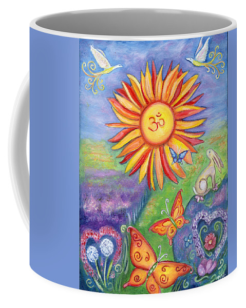 Summer Coffee Mug featuring the painting Summer by Diana Haronis