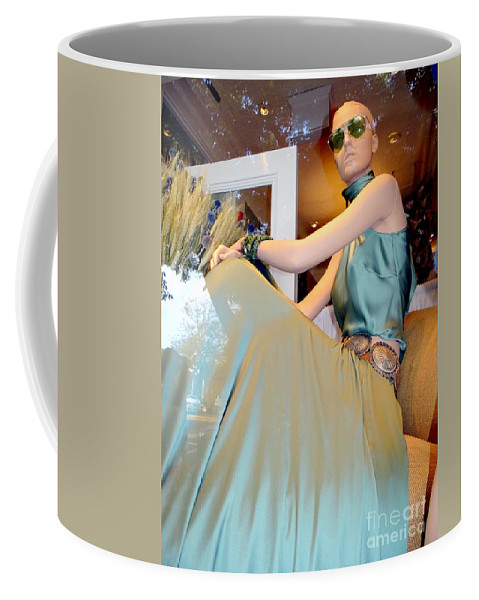 Mannequins.window Coffee Mug featuring the photograph Summer Elegance by Ed Weidman