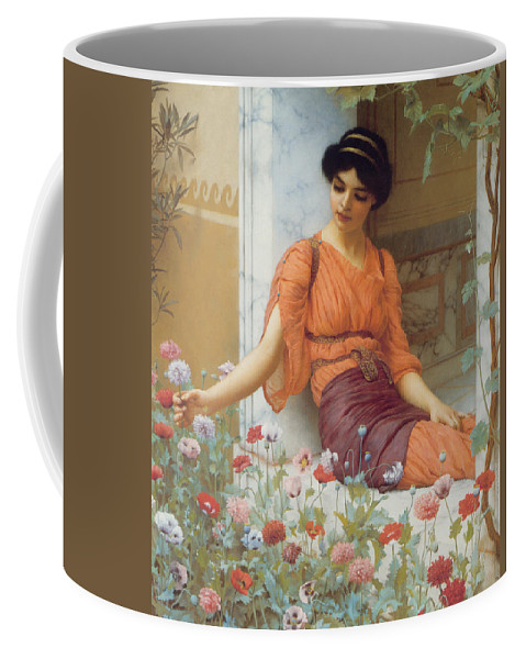 Summer Flowers Coffee Mug featuring the digital art Summer Flowers by John William Godward