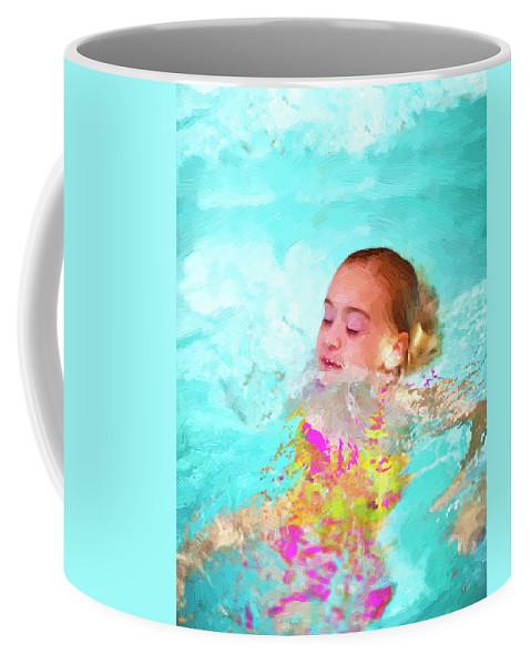 Swim Coffee Mug featuring the photograph Summer Fun by Angela Stanton