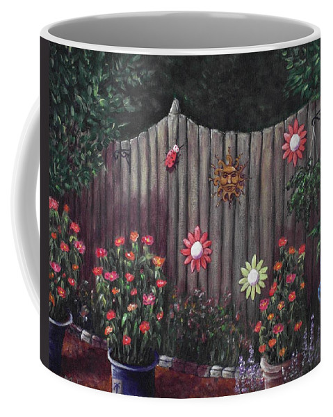 Plant Coffee Mug featuring the painting Summer Garden by Anastasiya Malakhova