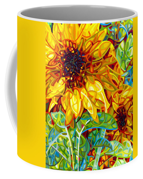 Summer Coffee Mug featuring the painting Summer In The Garden by Mandy Budan