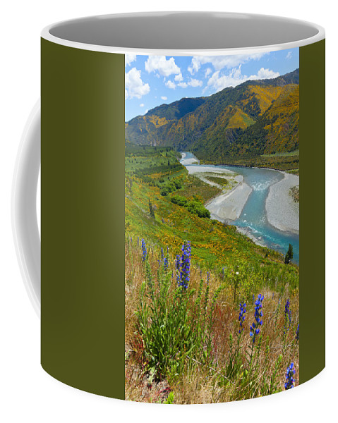 Landscape Coffee Mug featuring the photograph Summer Landscape by Alexey Stiop