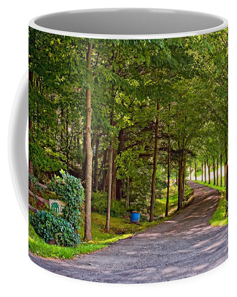 Country Coffee Mug featuring the photograph Summer Lane by Steve Harrington